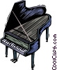 Vector Clipart picture  of a grand pianos