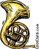 French horn Vector Clip Art picture