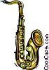 saxophone Vector Clipart graphic
