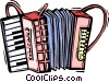 Vector Clipart graphic  of an accordion