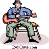 Vector Clip Art image  of a blues man