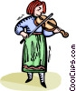 Vector Clipart picture  of a violinist