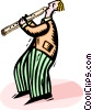 flutist Vector Clipart graphic