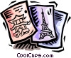 Vector Clipart graphic  of a travel brochures