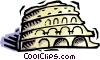 Vector Clip Art image  of a Coliseum