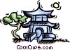 Vector Clip Art image  of a temple