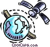 Vector Clip Art graphic  of a satellite communications