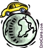 Vector Clipart graphic  of a global transportation