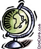Vector Clipart illustration  of a globe