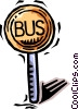 Vector Clipart graphic  of a bus stop