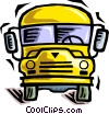 Vector Clip Art graphic  of a school bus