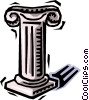 Vector Clip Art picture  of a column