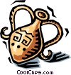 Vector Clipart graphic  of a Egyptian vase
