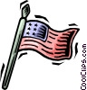 Vector Clipart illustration  of an American flag