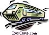 Vector Clip Art image  of a trains
