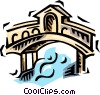 Vector Clip Art picture  of a bridge