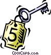 Vector Clip Art graphic  of a hotel key