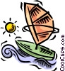 Vector Clip Art picture  of a windsurfer