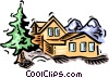 Vector Clipart image  of a house