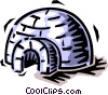 Vector Clip Art graphic  of a igloo