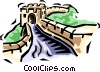 Great Wall of China Vector Clip Art picture