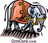 elephants Vector Clipart graphic