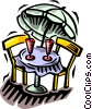 patio furniture Vector Clipart illustration