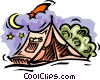 Vector Clipart illustration  of a Camping tents