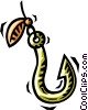 fishing hook Vector Clipart illustration
