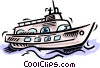 Vector Clip Art image  of a ship