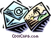 Vector Clipart image  of a postcard