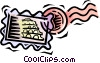 Vector Clip Art graphic  of a postage stamps