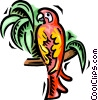 Vector Clipart graphic  of a parrot