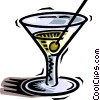 Vector Clip Art image  of a martini
