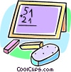 school blackboard Vector Clip Art graphic