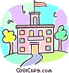 school building Vector Clip Art picture