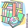 Vector Clipart graphic  of a library