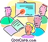 Vector Clipart graphic  of a students in a classroom