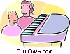 Vector Clipart graphic  of a piano lessons