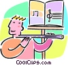Vector Clip Art image  of a flute lessons
