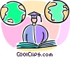 graduating student Vector Clip Art graphic