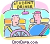 Vector Clipart graphic  of a driver education