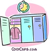 school lockers Vector Clipart illustration