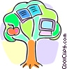 tree of knowledge Vector Clipart illustration