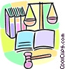 studying law Vector Clipart image