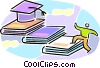 person working towards graduation Vector Clip Art image