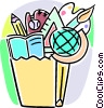 Vector Clipart illustration  of a different school activities