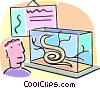 Vector Clip Art picture  of a snakes
