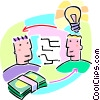 Vector Clipart illustration  of a paying someone for their ideas