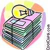 Vector Clip Art image  of a school books